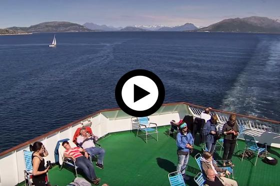 Hurtigruten in de zomer