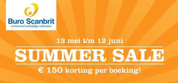 Summer Sale: 150 euro korting op diverse reizen