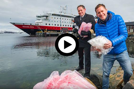 Hurtigruten gaat de strijd aan met plastic!
