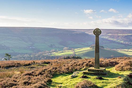 Toeren door het Engelse landschap