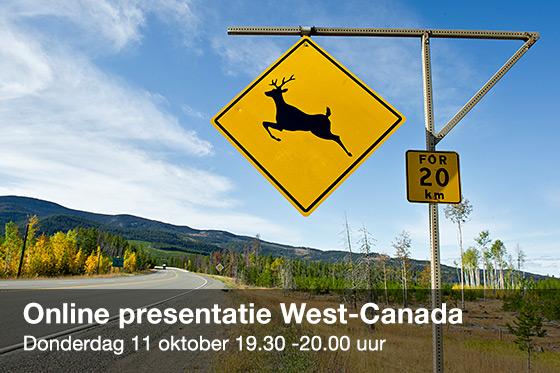Volg online de presentatie over West-Canada